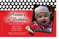 CU887 - Lady Bug Birthday Invitation