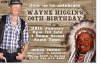 CU888 - Cowboys and Indians Birthday Invitation