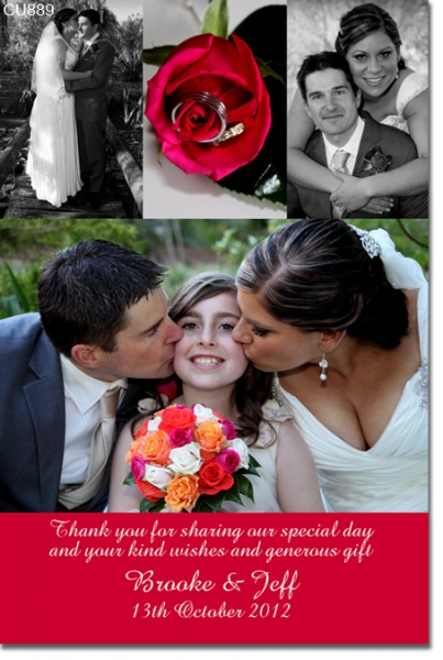CU889 - Wedding Thank You Photo Card