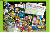 CU892 - Trash Pack Birthday Invitation