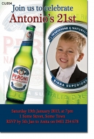 CU894 - Peroni Beer Birthday Invitation