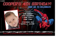 Cu896 Spiderman Birthday Invitation Boys Themed