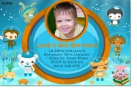 CU899 - Kids Octonauts Birthday Invitation