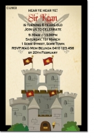 CU903 - Castle Birthday Invitation