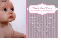 CU905 - Girls elegant Birthday and Christening Invitation