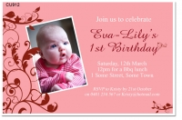 CU912 - Little Bird Birthday Invitation