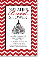 CU921 - Red Chevron Bridal Shower