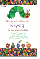CU926 - Hungry Caterpillar Baby Shower Invitaiton