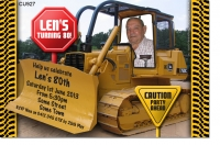 CU927 - Adults Digger Bulldozer Invitation