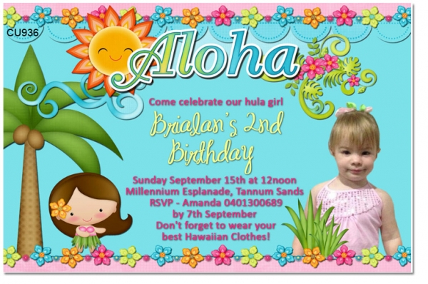 CU936 - Luau Birthday Invitation
