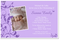 Cu937 New Little Butterfly Christening Invitation Baby