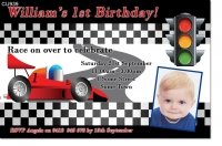 CU939 - Race Car Birthday Invitation