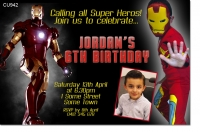 CU942 - Iron Man Birthday Invitation