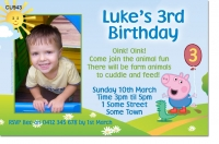 CU943 - George the Pig Birthday Invitation