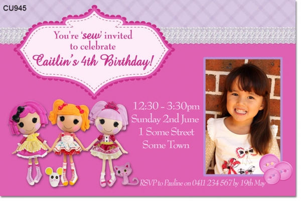 Cu945 lalaloopsy birthday invitation girls themed birthday cu945 lalaloopsy birthday invitation filmwisefo