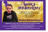 CU949 - Willy Wonka Birthday Invitation