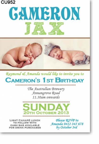 CU952 - Modern Birthday Invitation