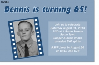 CU954 - Old Filmstrip Birthday Invitation