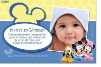 CU956 - Baby Minnie and Mickey Mouse Invite Boy