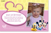 CU957 - Baby Minnie and Mickey Mouse Invite Girl