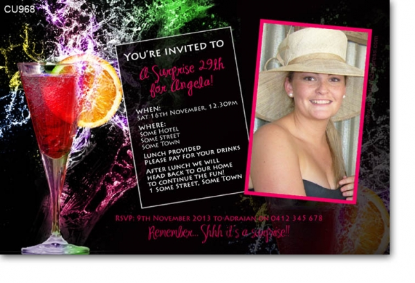 CU968 - Bright Cocktail Invitation
