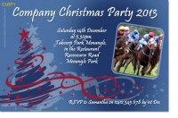 CU971 - Christmas Party Invitation at a racecourse
