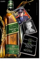 CU973 - Johnny Walker Green Birthday Invitation