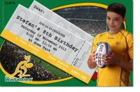 CU976 - Wallabies Birthday Invitation