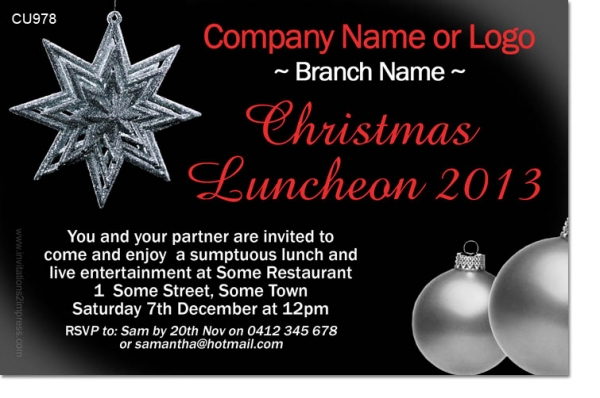 CU978 - Company Christmas Invitation