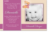 CU993 - Girls Teddy Bear Invitation