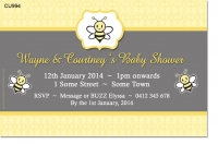 CU994 - Bumble Bee Baby Shower Invitation