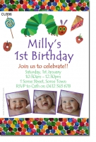 CU996 - Hungry Caterpillar Birthday Invitation