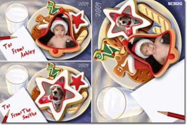 GT302 - Christmas Present Tag - Cookies