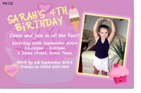 PA123 - Girls Birthday Invitation