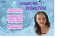 PA124 - Girls Iceskating Birthday Invitation