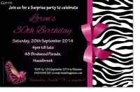 CU1111 - Birthday or Hens Night sexy leopard skin Invitation