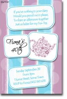 CU1131 - Ladies High Tea Bridal Tea Birthday Invitation