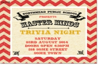 CU1139 - School Trivia Night Invitation