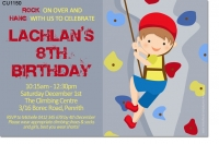 CU1150 - Boys Rock Climbing Birthday Invitation