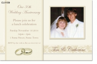 CU1159 - 30th Ivory Wedding Anniversary Invitation