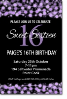 CU1171 - Sweet 16th photo birthday invitation