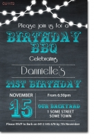 CU1172 - Light Bunting Birthday Invitation