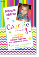 CU918 - Chevron Birthday Invitation