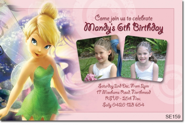 Se159 Themed Birthday Girl Tinkerbell Girls Themed