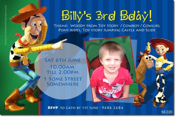 Se220 themed birthday boy toy story boys themed for Toy story invites templates free