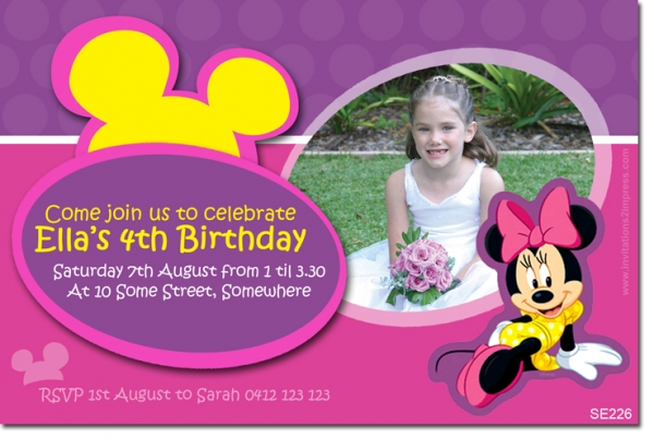 SE226 - Themed Birthday Girl - Minnie