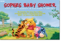 se228 - baby shower winnie the pooh - baby shower invitations, Wedding invitations