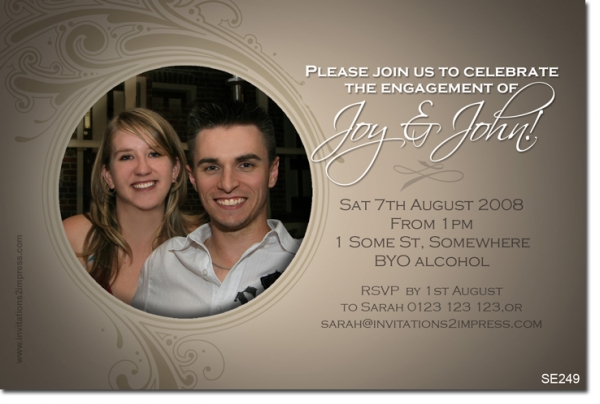 Se249 Engagement Engagement Wedding Invitations Invitations