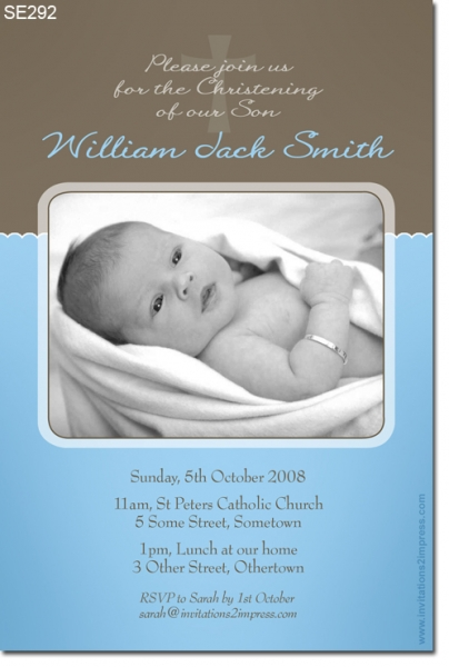 SE292 - Christening Boy - William