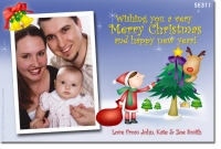 SE311 - Christmas Card - Illustrated Mrs Claus Tree